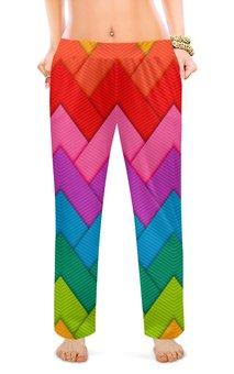 """Женские пижамные штаны """"Papercraft style"""" - абстракция, геометрия, линии, papercraft"""