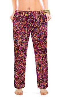 """Женские пижамные штаны """"Карамель."""" - арт, узор, абстракция, фигуры, текстура"""