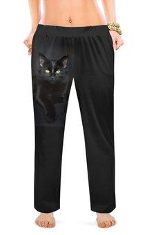 """Женские пижамные штаны """"ЧЕРНАЯ КОШКА"""" - кошка, стиль, фото, красота, магия"""