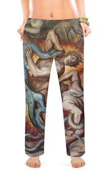 """Женские пижамные штаны """"Ад (Божественная комедия)"""" - картина, данте, змей, фреска, кох"""