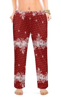 """Женские пижамные штаны """"новогодние узоры"""" - арт, новый год, стиль, рисунок"""