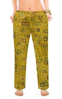 """Женские пижамные штаны """"Квадраты"""" - квадрат, яркий"""