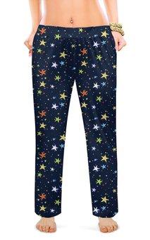 """Женские пижамные штаны """"ЗВЕЗДОПАД"""" - космос, абстракция, стиль эксклюзив креатив красота яркость, арт фэнтези"""