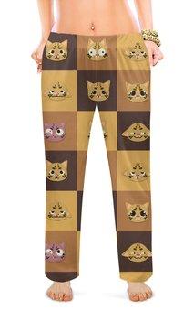 """Женские пижамные штаны """"КОШКИ ФЭНТЕЗИ"""" - стиль, красота, кошки, яркость"""