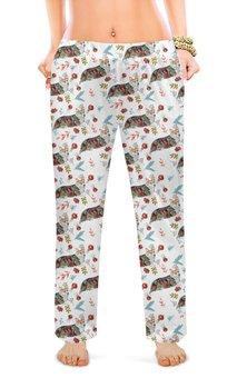 """Женские пижамные штаны """"Осенний вальс"""" - животные, собака, корги, пемброк, вельшкорги"""