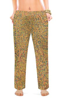 "Женские пижамные штаны ""Сандал"" - арт, узор, абстракция, фигуры, текстура"
