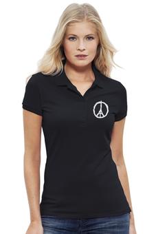 "Рубашка Поло Stella Plays ""Париж"" - мир, франция, пацифик, солидарность"