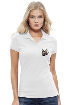"""Рубашка Поло Stella Plays """"Mr. Cox polo"""" - кот, cat, кокс, лого, сфинкс, tm kiseleva"""