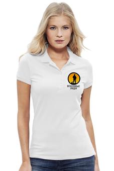"""Рубашка Поло Stella Plays """"Вежливые люди"""" - армия, россия, логотип, ратник, силовые структуры"""