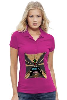 "Рубашка Поло Stella Plays ""Светофор."" - дорога, автомобиль, светофор"