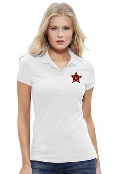 """Рубашка Поло Stella Plays """"Звезда"""" - ссср, патриот, россия, георгиевская ленточка, серп и молот"""