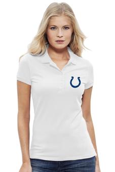 "Рубашка Поло Stella Plays ""Indianapolis Colts"" - удача, подкова, nfl, американский футбол, indianapolis colts"