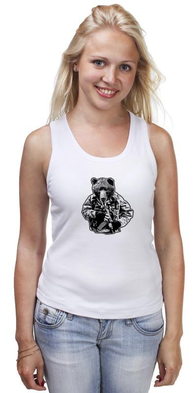 Майка классическая Printio Медведь солдат футболка рингер printio медведь солдат