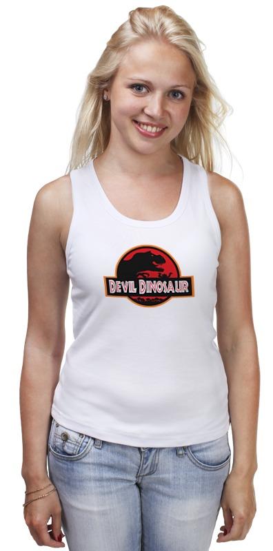 Майка классическая Printio Дьявол динозавр (парк юрского периода) майка классическая printio динозавр парк юрского периода