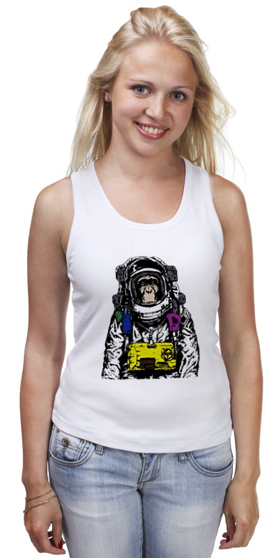 Майка классическая Printio Обезьяна космонавт майка классическая printio обезьяна