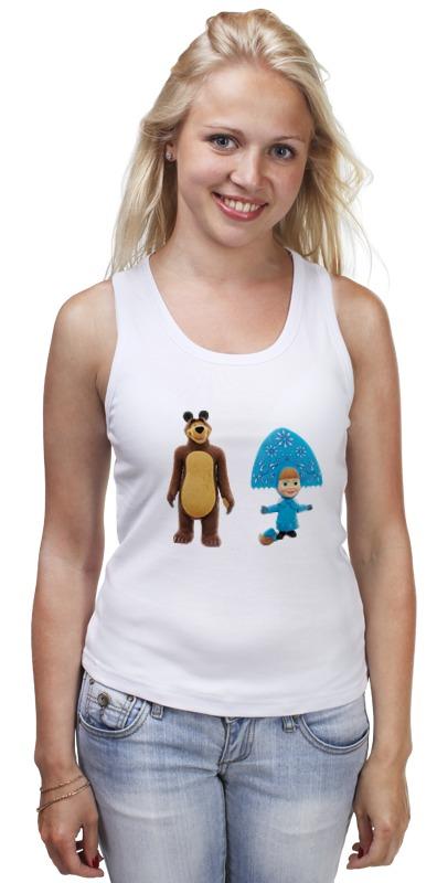 Майка классическая Printio Кукла-девочка маша и миша. смешные озорные футболка классическая printio кукла девочка маша и миша смешные озорные