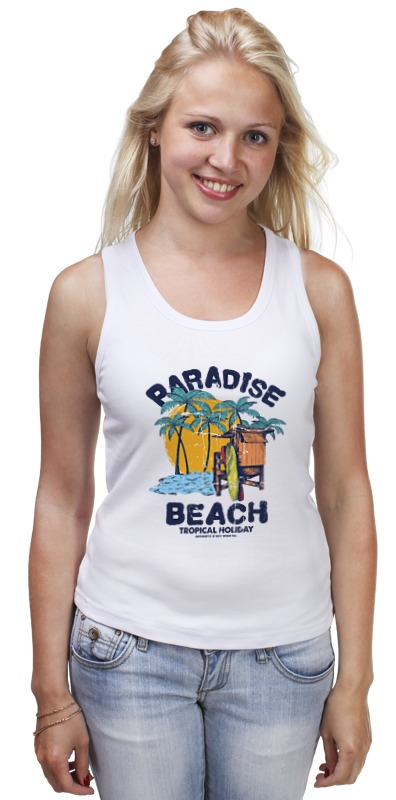 Майка классическая Printio Paradise beach