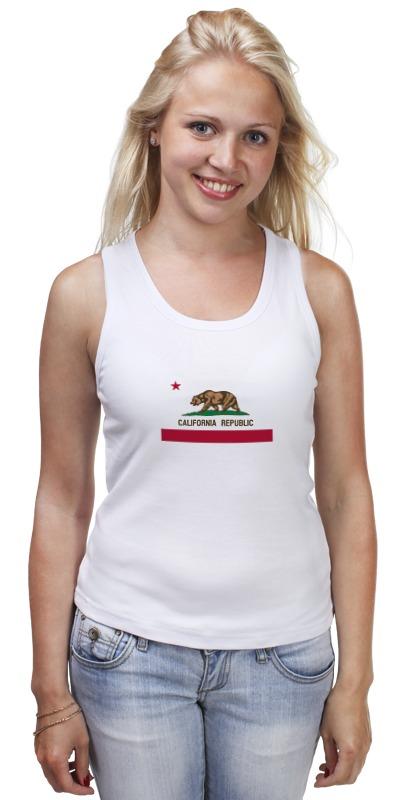 Майка классическая Printio Калифорния флаг майка классическая printio штаты россии