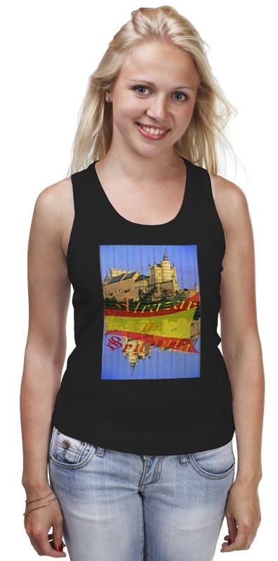Майка классическая Printio Средневековой испанский замок сеговия. испанский топор truper ml 4m 14972