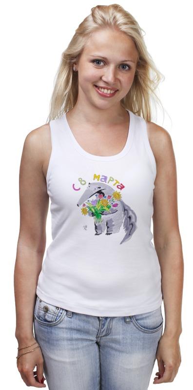 Майка классическая Printio Муравьед с цветами футболка классическая printio муравьед с цветами