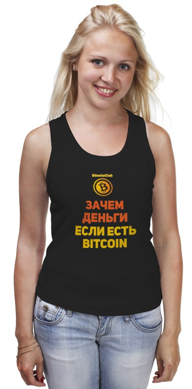 цена Майка классическая Printio Bitcoin club collection - satoshi nakamoto