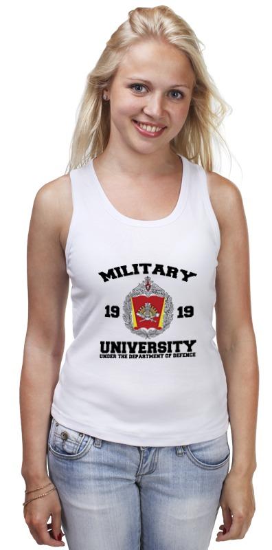 Майка классическая Printio 2016 военный университет мо рф (белая) погоны парадные мо вс в калуге