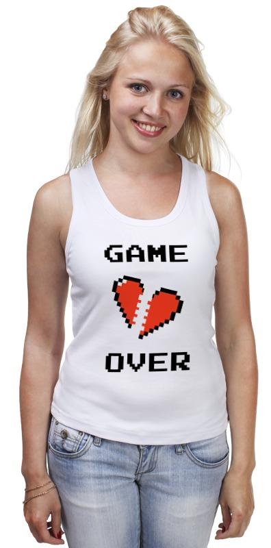 Фото - Майка классическая Printio Game over (игра окончена) майка классическая printio любовь окончена