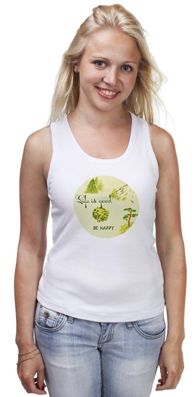 Майка классическая Printio Горы, сосны и цветы шишку сосны