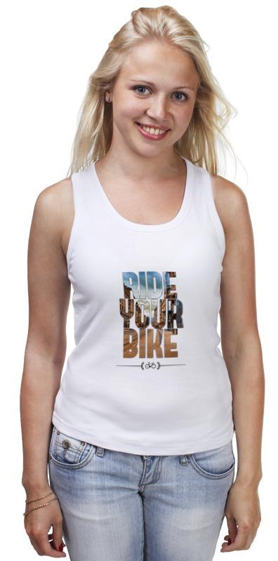 Майка классическая Printio Ride your bike (город) moon cycling helmet ultralight bicycle helmet in mold mtb bike helmet casco ciclismo road mountain bike safty helmet