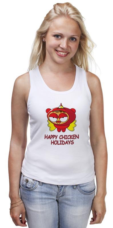 Майка классическая Printio Happy chicken holidays поло print bar happy chicken holidays
