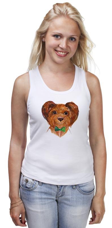 Майка классическая Printio Собака футболка классическая printio акварельная новогодняя забавная собака