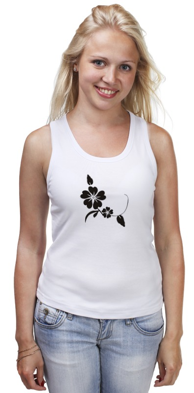 Майка классическая Printio Черный цветок майка классическая printio черный арлекин