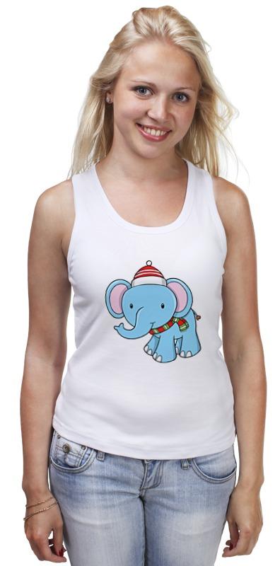 Printio Слон новый год майка борцовка print bar слон