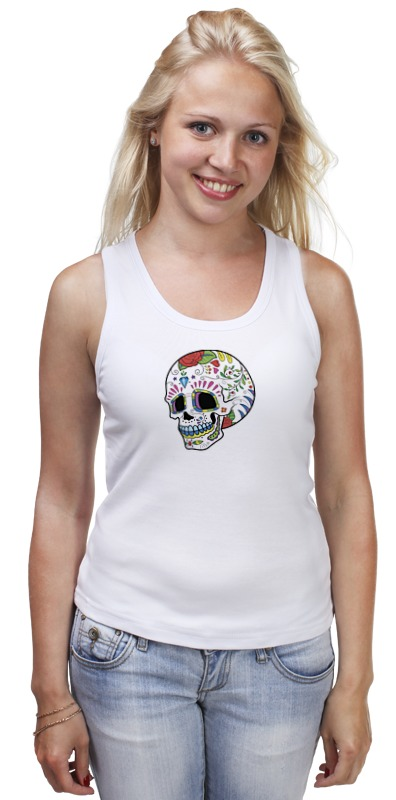 Майка классическая Printio Skull худи print bar skull