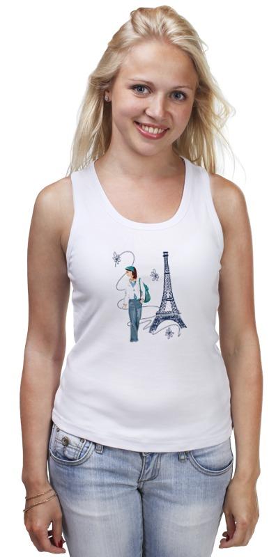 Майка классическая Printio Парижанка макет эйфелевой башни спб