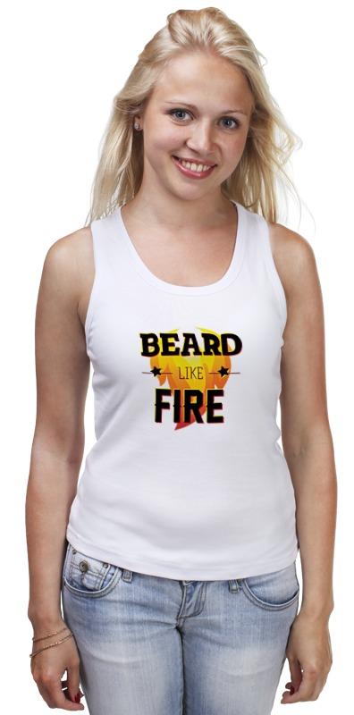 купить Майка классическая Printio Beard like fire по цене 1200 рублей