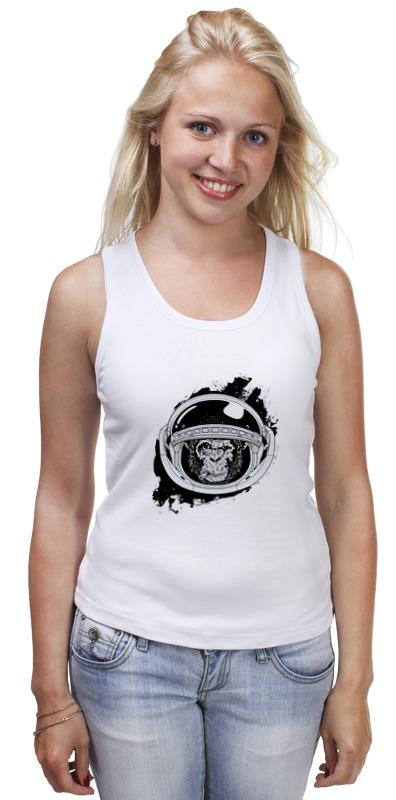 Майка классическая Printio Space monkey (космическая обезьяна) футболка wearcraft premium printio space monkey космическая обезьяна