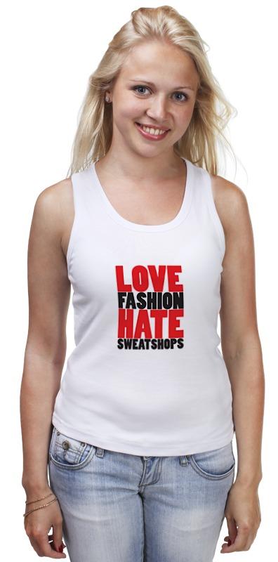 Майка классическая Printio Love & hate кепка printio рэпер face hate love
