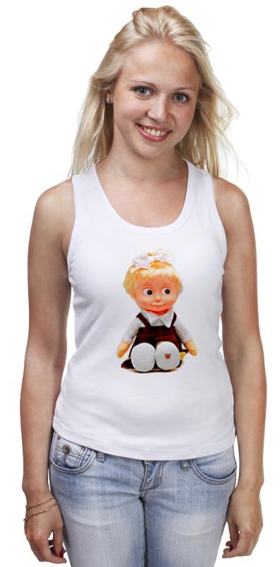 Майка классическая Printio Кукла-девочка маша из мульта. смешная озорная. майка классическая printio кукла девочка маша из мульта смешная озорная