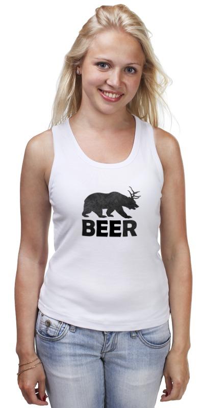 Майка классическая Printio Beer (bear) лонгслив printio bear beer медведь и мед