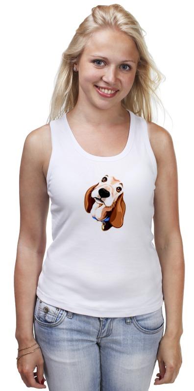 Майка классическая Printio Смешная собачка футболка классическая printio смешная собачка