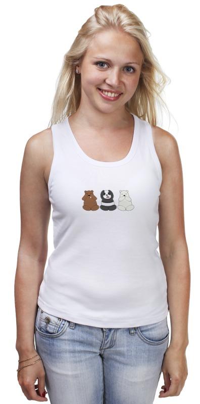 Майка классическая Printio Медведи и панда лонгслив printio медведи и панда