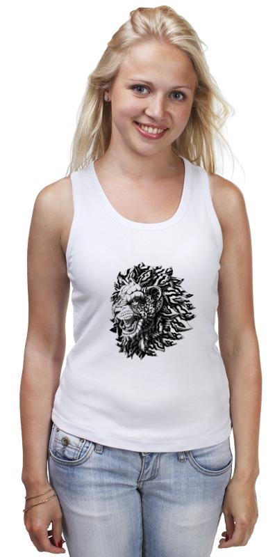 Майка классическая Printio Лев царь футболка классическая printio лев царь зверей
