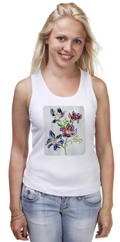 Майка классическая Printio Лиловые цветы
