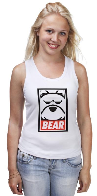 Майка классическая Printio Мишка (bear, obey)