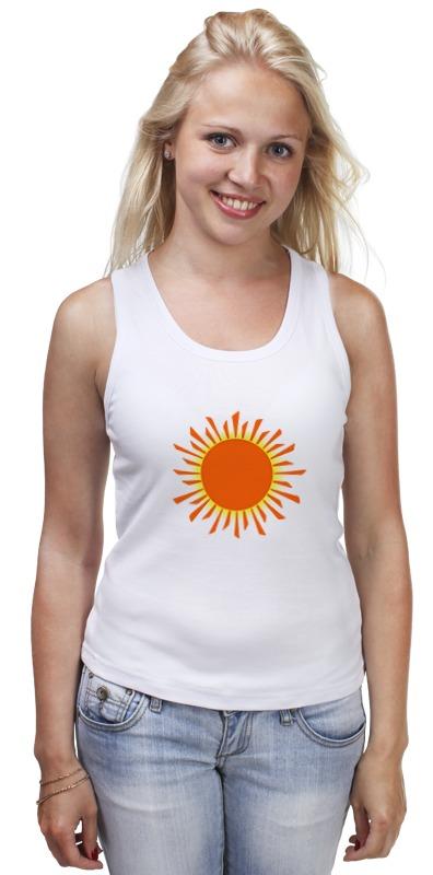 Майка классическая Printio Оранжевое солнце футболка классическая printio оранжевое солнце