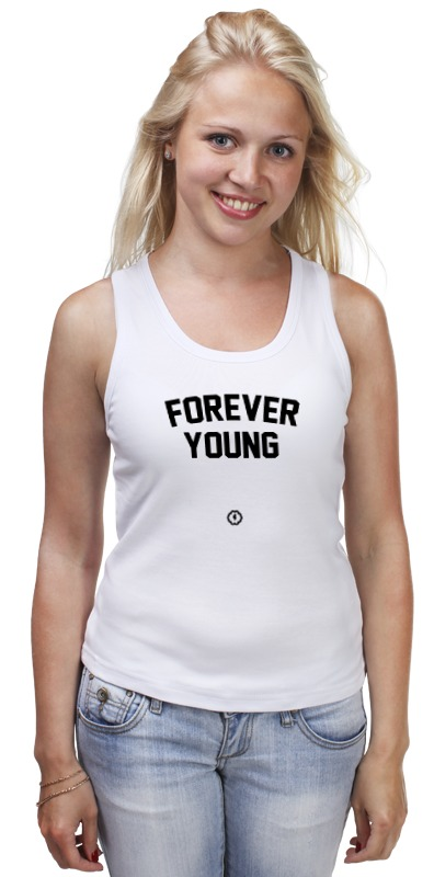 Майка классическая Printio Forever young by brainy you said forever