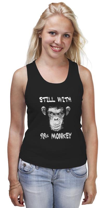 Майка классическая Printio Steel whit 98% monkey