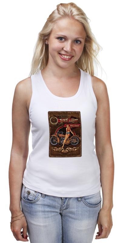 Майка классическая Printio Мотоциклы, винтажный постер. футболка классическая printio мотоциклы