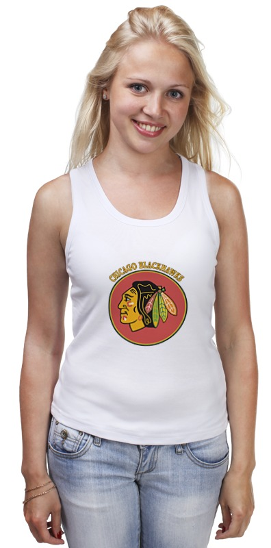 Майка классическая Printio Чикаго блэкхокс футболка print bar chicago blackhawks